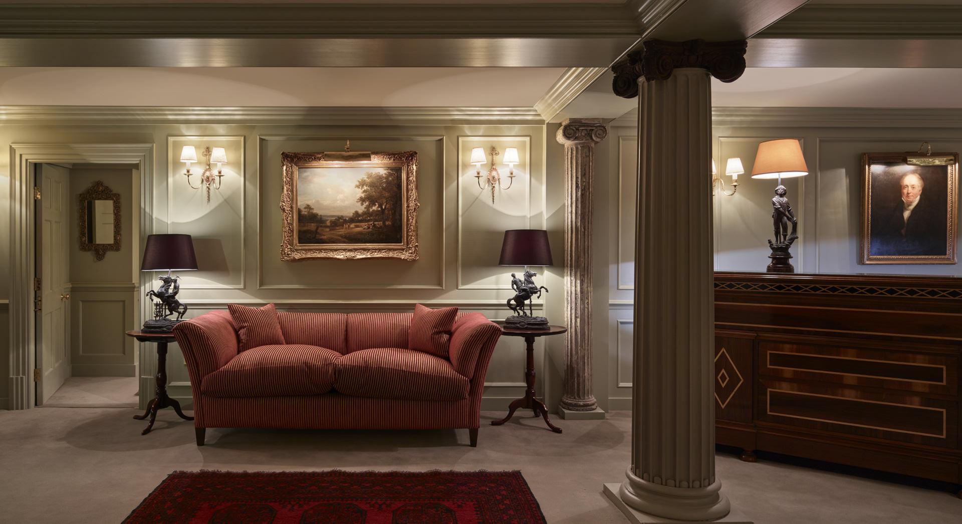 Batty Langleys Reception Area and Sofa
